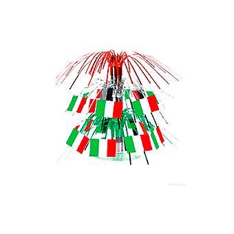 Italienische Flagge Mini Kaskade Herzstück 19cm (1 Stück)