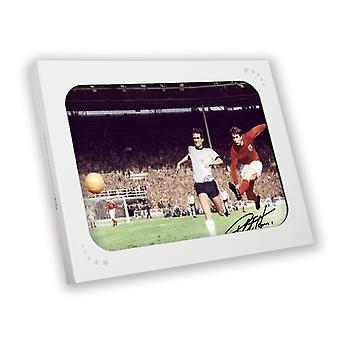 Sir Geoff Hurst Signed England Soccer Photograph: 1966 World Cup In Gift Box