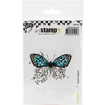 Carabelle Studio Cling Stamp A7-Butterfly Origami