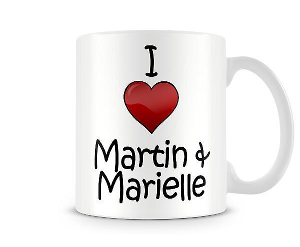 Martin Marielle imprimé J'aime la tasse