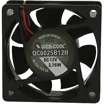 QuickCool QC6025B12H Axial fan 12 Vdc 34.86 m³/h (L x b x H) 60 x 60 x 25 mm