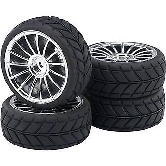 Reely 1:10 Road version Wheels V Slick 15-spoke Silver 4 pc(s)