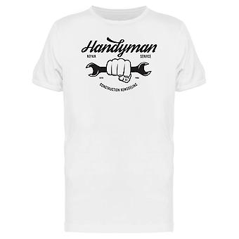 Handyman Construction Remodeling Tee Men's -Image by Shutterstock