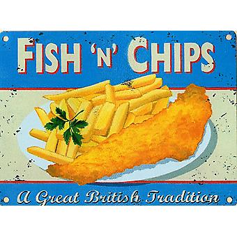 Fish n ' Chips de imán de nevera