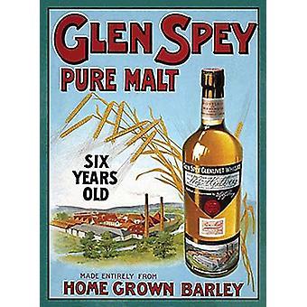 Glen Spey Pure Malt kleine Metall unterzeichnen 200 X 150 Mm