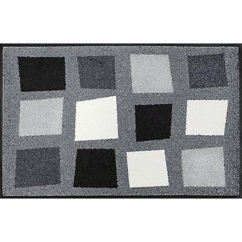 lavar + secar la suciedad caja mat Parque gris 50 x 75 cm lavable alfombra