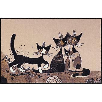 Rosina Wachtmeister dörrmatta Serafino & vänner 75 x 120 cm tvättbar smuts katt mat