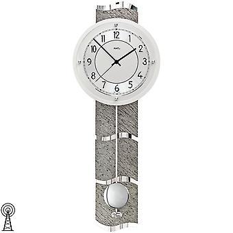 AMS 5216 настенные часы радио радио контролируемые настенные часы с часами Маятник маятник серебро с каменными смотреть
