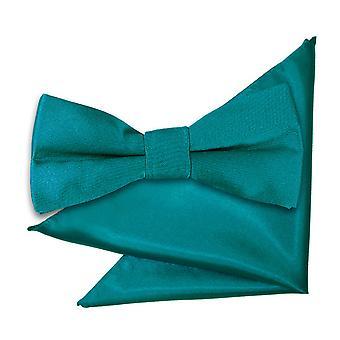 أزرق مخضر عادي الساتان القوس التعادل وساحة جيب تعيين للبنين
