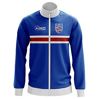 Iceland Concept Football Track Jacket (Blue) - Kids