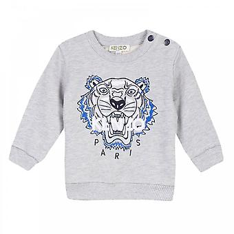 Kenzo juniorer broderade Tiger BB 2 BIS Sweatshirt (grå)