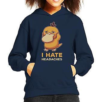 Odio Hooded Sweatshirt di mal di testa Psyduck Pokemon Kid