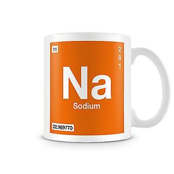 Wetenschappelijke bedrukte Mok met Element symbool 011 nb - natrium
