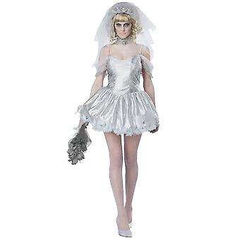 Ghostly Bride Ghost Wedding Corpse Day Of The Dead Halloween Womens Costume
