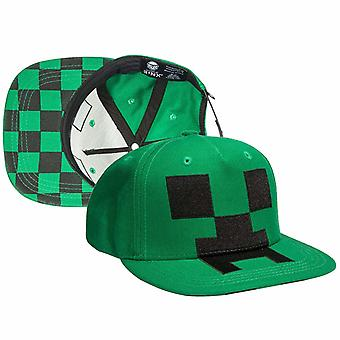 Minecraft Barnkeps Cap With Motifs Of The Creep On Front One Size