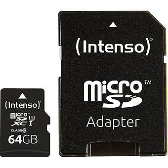 Intenso Premium microSDXC card 64 GB Class 10, UHS-I incl. SD adapter