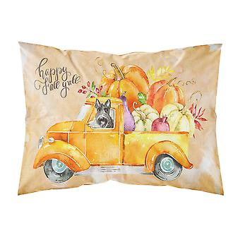 Fall Harvest Scottish Terrier Fabric Standard Pillowcase