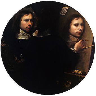 Self-portrait, Johannes Gumpp, 50x50cm