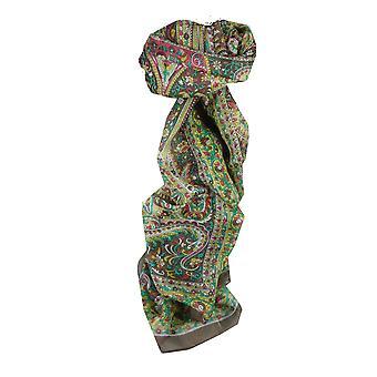 Amoreira cachecol longo tradicional Esha Brown por Pashmina & seda
