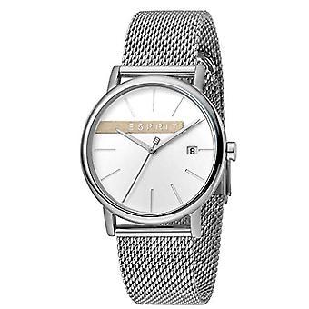 ESPRIT Mens Watch Watches Quartz Analogue Timber Silver Mesh