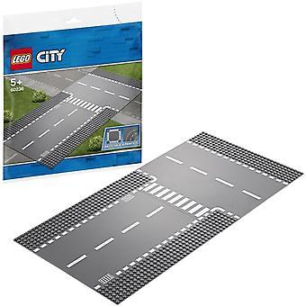 Lego City 60236 Rechte en T-splitsing Wegplaten