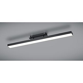 Trio Lighting Agano Modern Black Matt Aluminium Ceiling Lamp