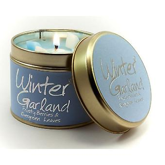Lily Flame Scented Candle in a presentation Tin - Winter Garland