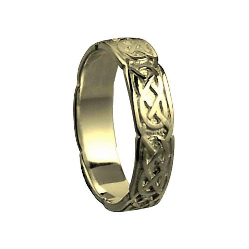 18ct Gold 4mm Celtic Wedding Ring Size Q