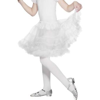 Girls White Petticoat Fancy Dress Accessory