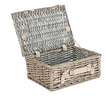 30cm Antique Wash Split Willow Wicker Basket