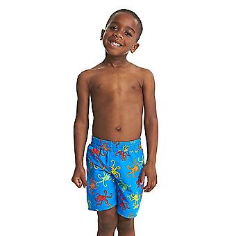 Zoggs Boys Octopus Fever Water Shorts in Blue / Multi Colour - Chlorine Resistant