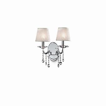 Ideal Lux - Senix Chrome And Crystal Wall Light IDL032573
