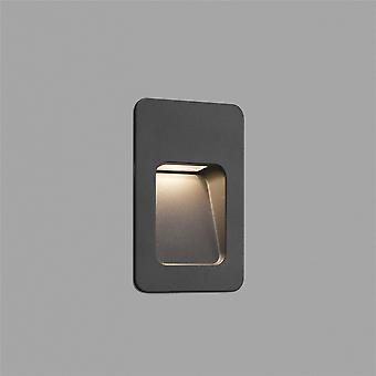 Faro - Sneep Tall donker grijs LED buiten Recessed Wall licht FARO70399