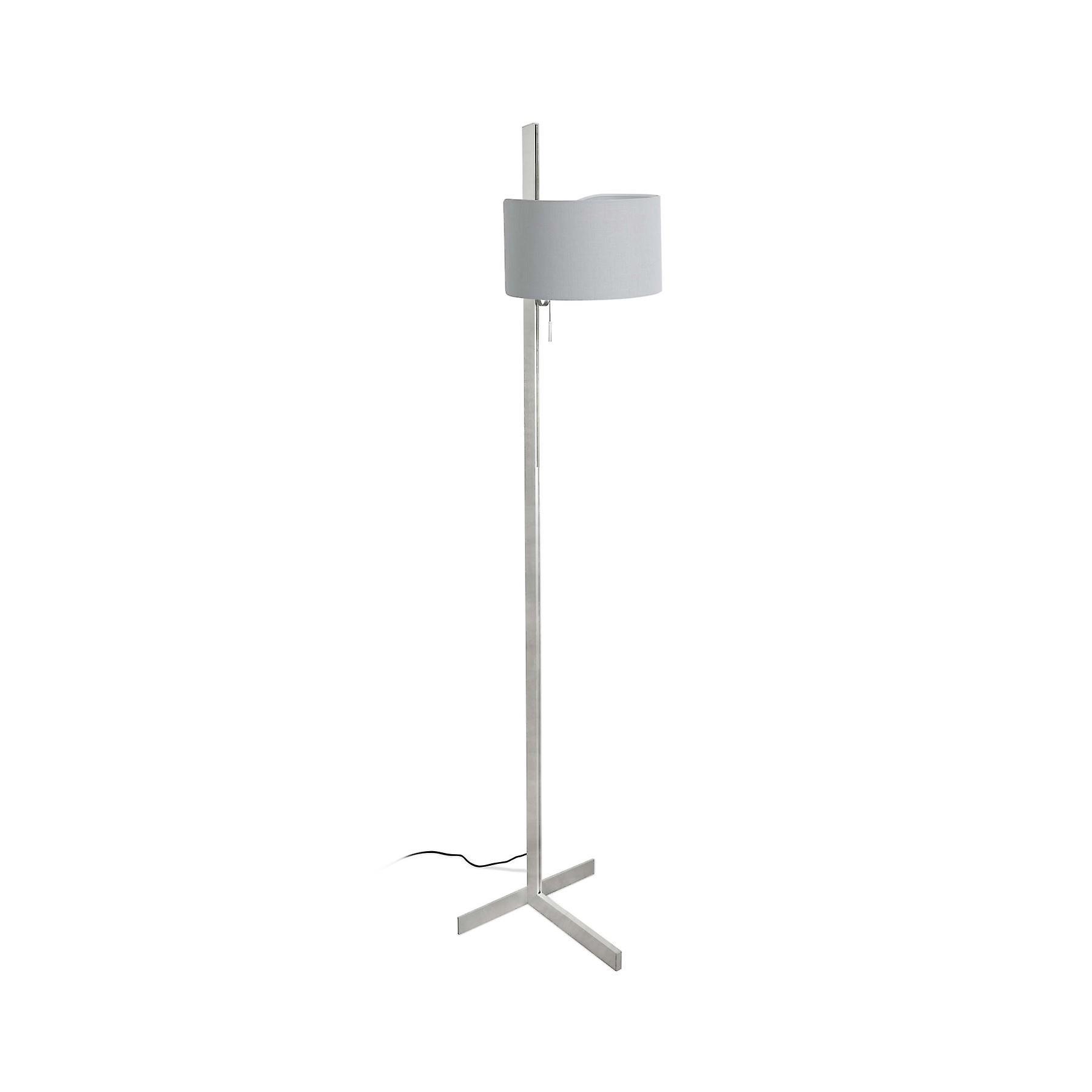 Faro - Stand Up Aluminium Floor Lamp With gris Shade FARO57214