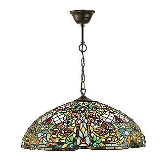 Anderson Tiffany Style Large Three Light Ceiling Pendant - Interiors 1900 63902