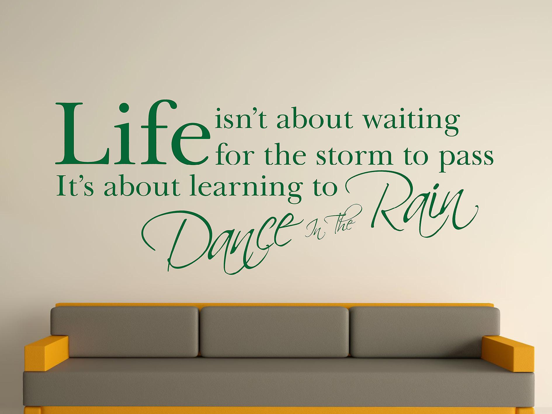 Tanz im Regen Wall Art Sticker - Racing Green