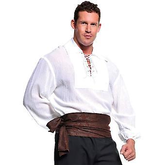 White Pirate Shirt Adult