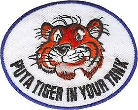 Esso Tiger In Your Tank iron-on/sew-on cloth patch  (ff)