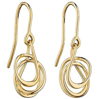 Elements Gold Wire Wrap Earrings - Gold