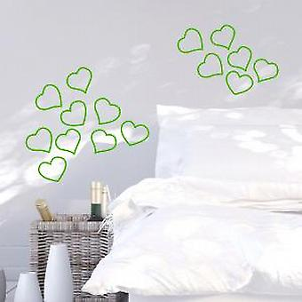 Neon hearts Wall Sticker