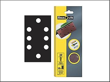 Flexovit 1/3 Sanding Sheets 93 x 230mm Perforated Medium 80g (10)