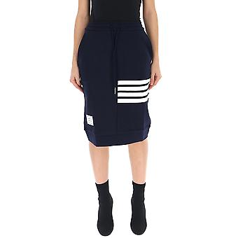 Thom Browne Blue Cotton Skirt