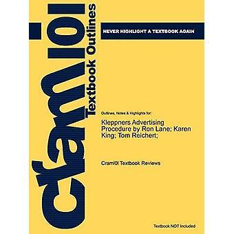 Studyguide Kleppners procedimiento de publicidad de Reichert ISBN 9780136110828 por comentarios de libros de texto de Cram101