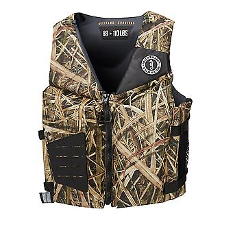 Mustang Rev Young Adult Foam Vest - Mossy Oak/Shadow Grass Blades