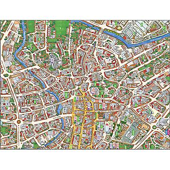 Cityscapes Street Map Of Norwich 400 Piece Jigsaw Puzzle 470mm x 320mm (hpy)