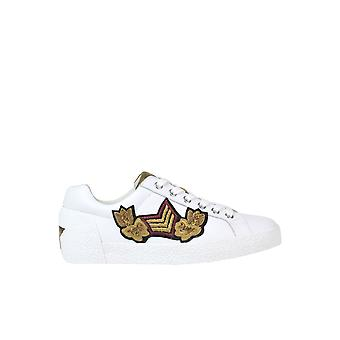 Ash White Leather Sneakers