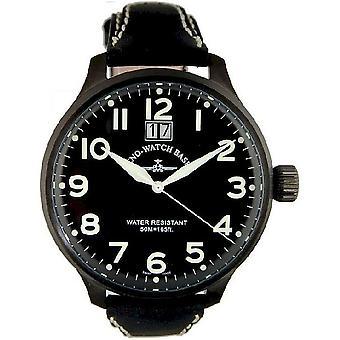Zeno-watch reloj Super de gran tamaño negro 6221-7003Q-bk-a1