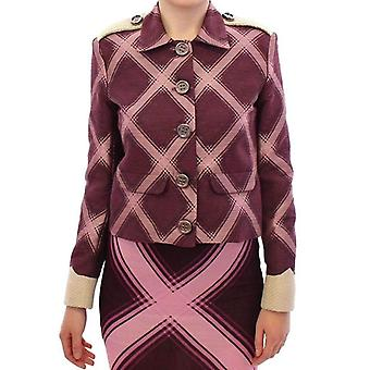 House Of Holland Purple Checkered Blazer Jacket -- GSS1881669