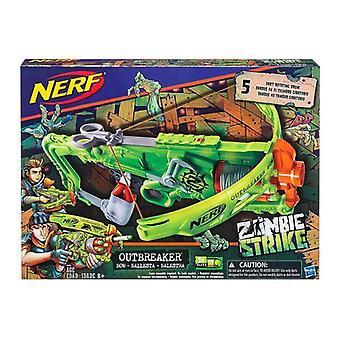 Nerf (B9093EU40) Zombie staking outbreaker Bow Blaster, Multi kleur