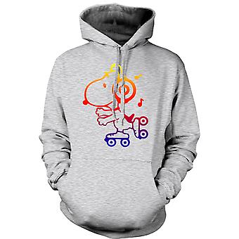 Womens Hoodie - Snoopy On Roller Skates